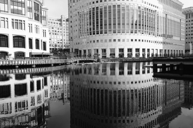 Patterns and reflections. Canary Wharf is surprisingly beautiful.