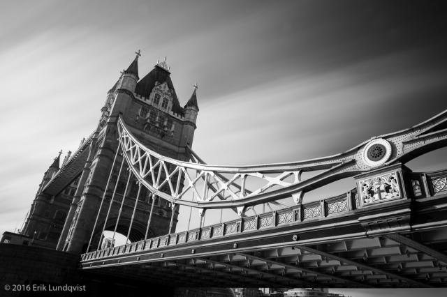 Long exposure of Tower Bridge, London.