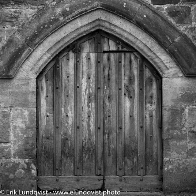A door at the back of the Nymans manor